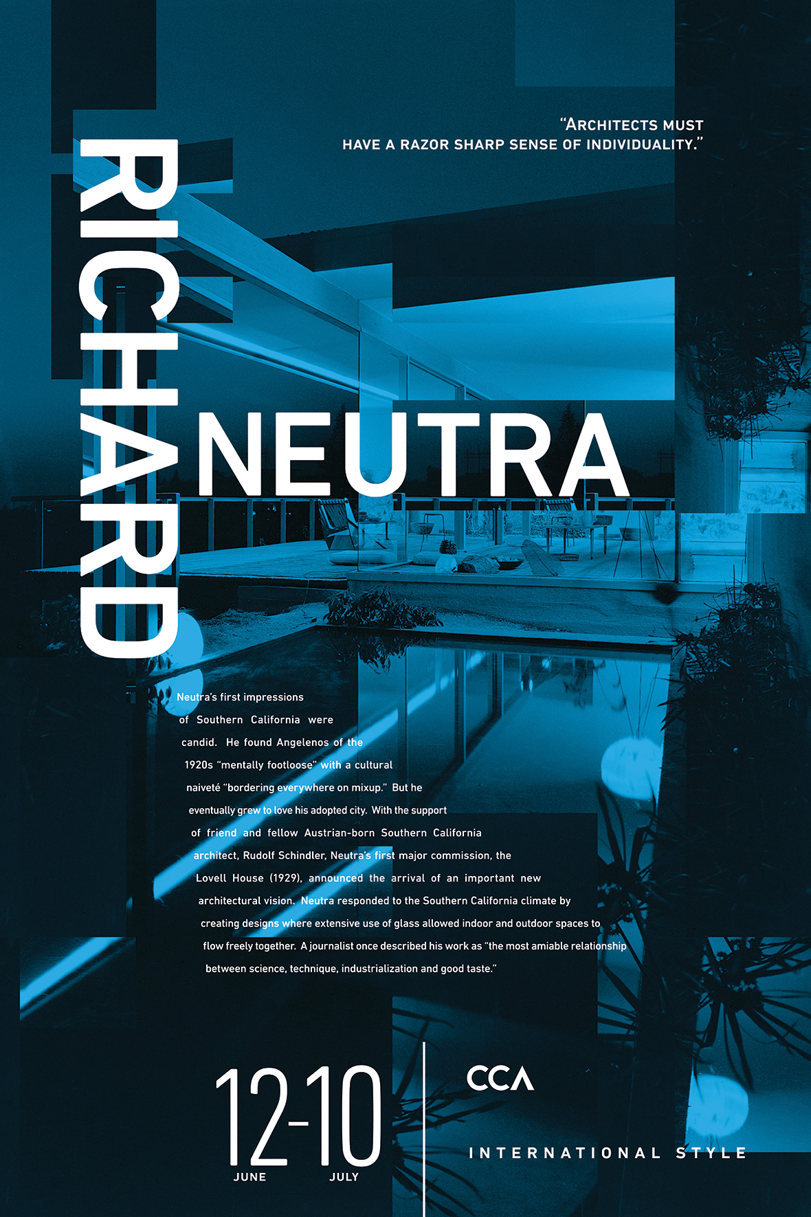 CCA Posters | Richard Neutra Poster | Jake Cooper Design