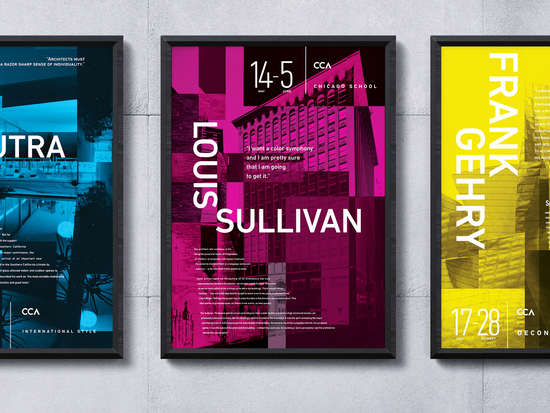 CCA Posters | Posters on Wall | Jake Cooper Design