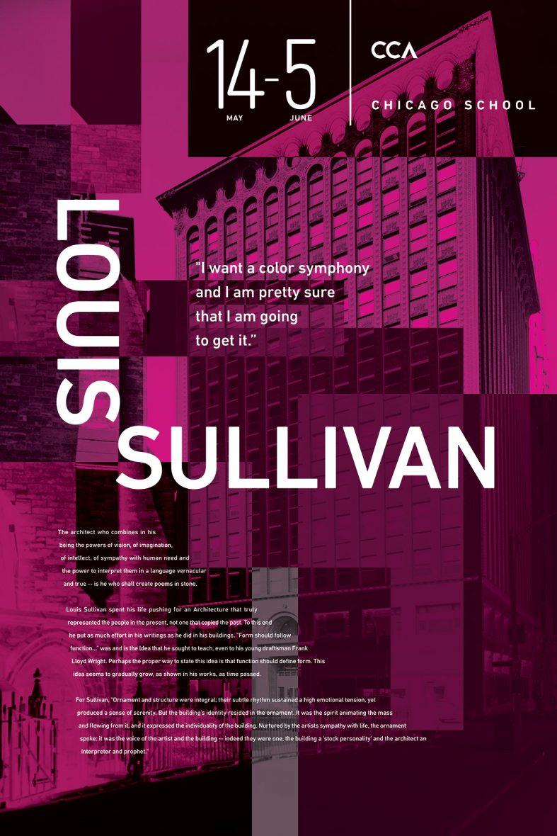 CCA Posters | Louis Sullivan Poster | Jake Cooper Design