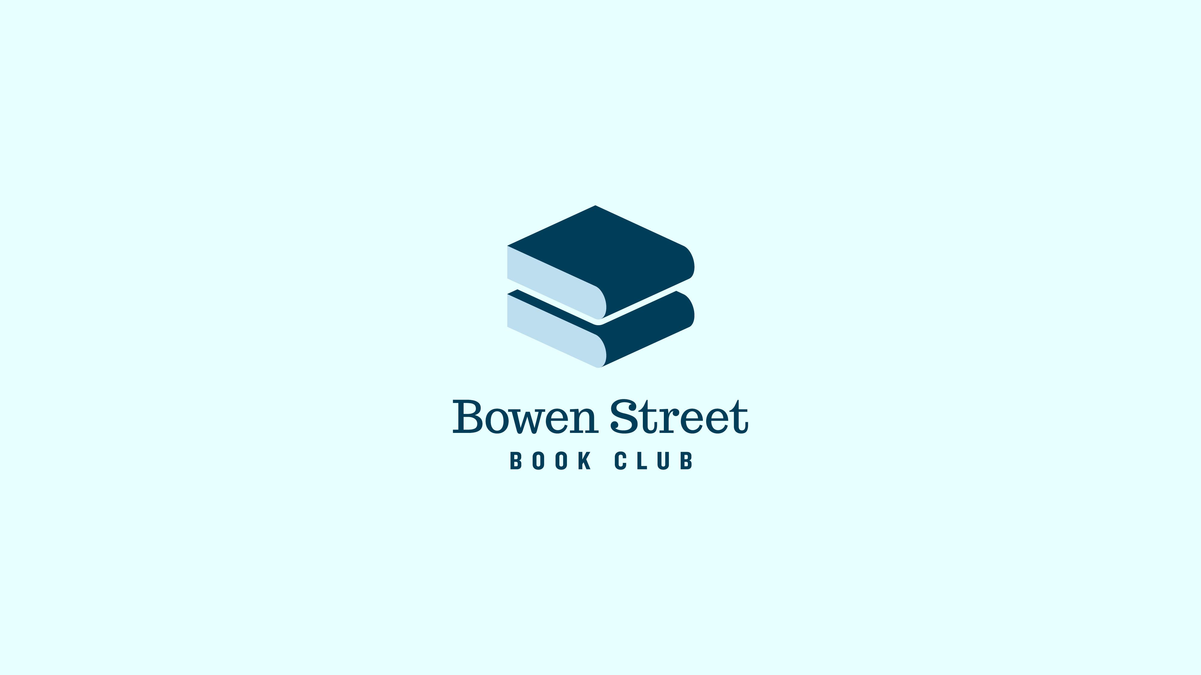 Jake Cooper Design - Logo - Bowen Street Book Club Branding