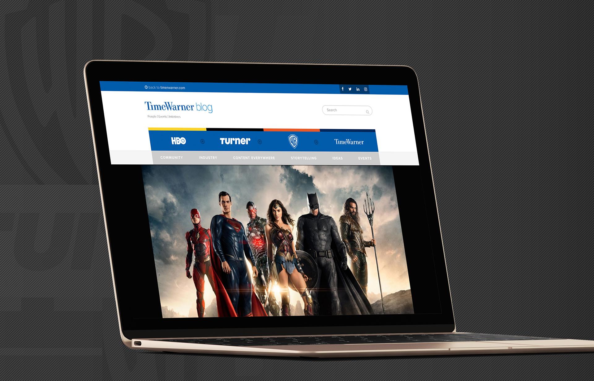 Time Warner Blog - Web Design - Laptop - Jake Cooper Design