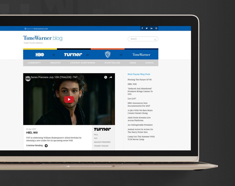 Time Warner Inc. Blog | Laptop Closeup | Jake Cooper Design