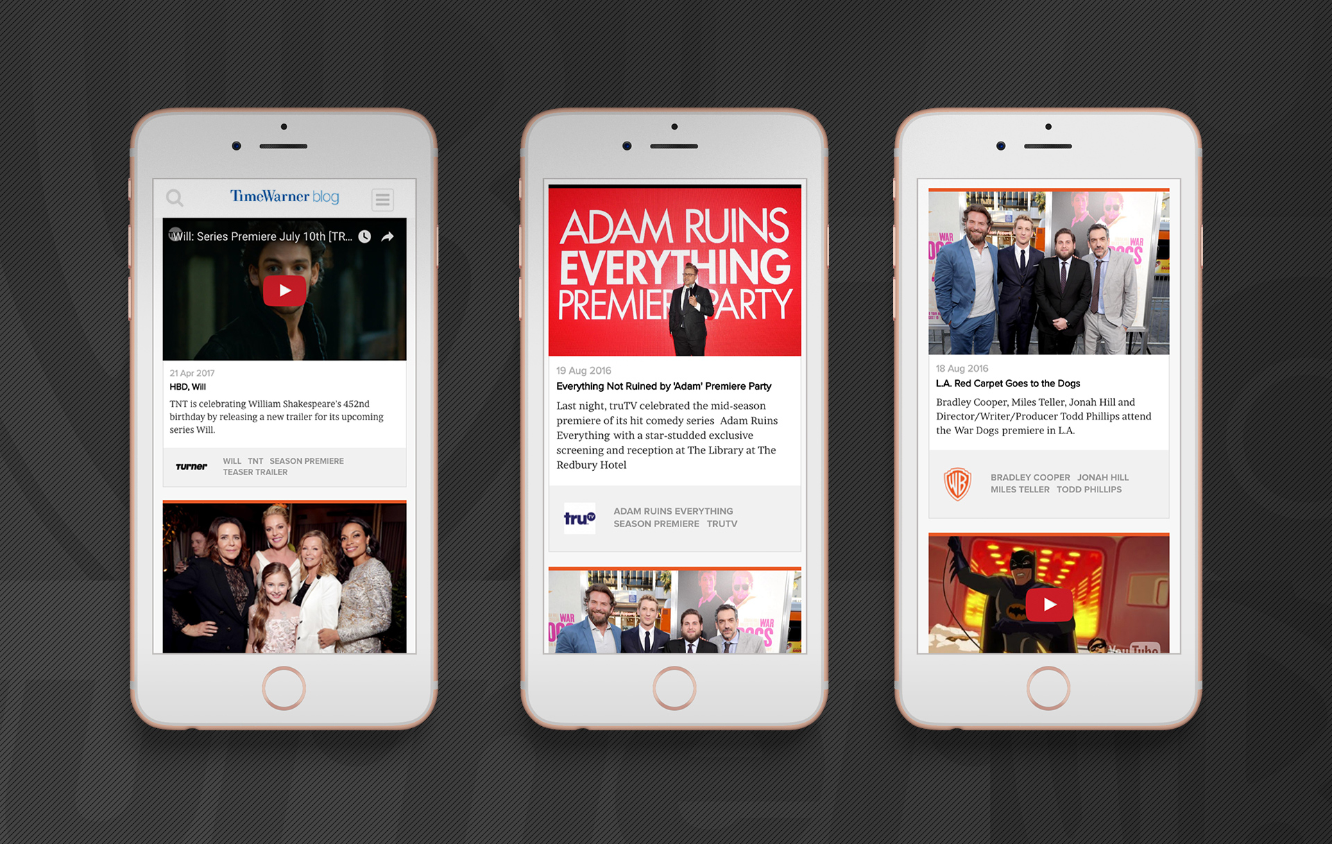 Time Warner Inc. Blog | Mobile Design | Jake Cooper Design