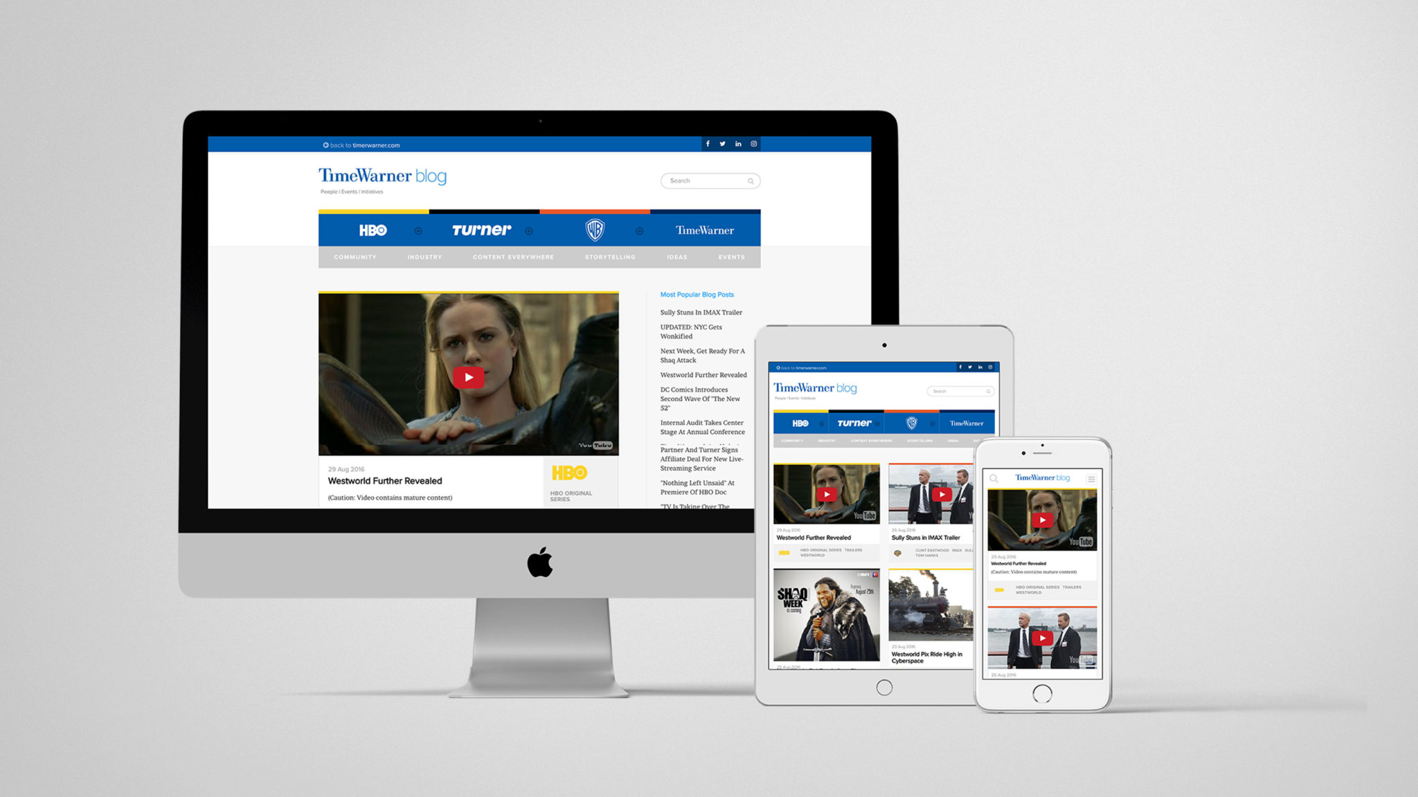 Time Warner Inc. Blog | Responsive Design | Jake Cooper Design
