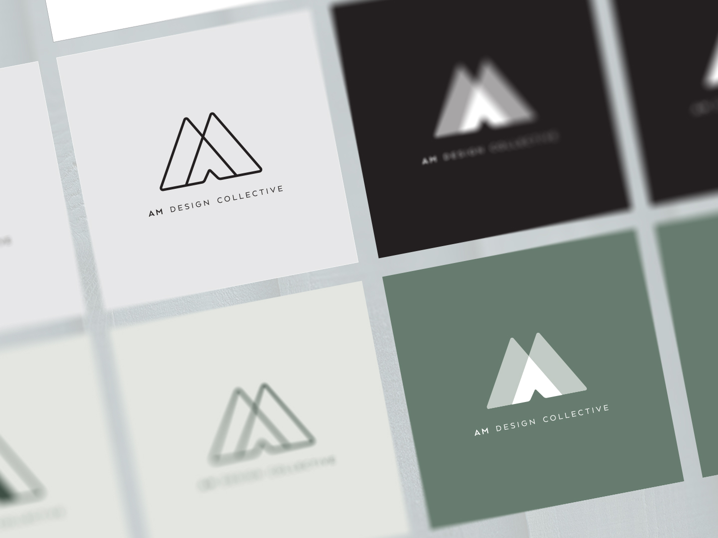 AM Design Collecting | Logo Variations | Jake Cooper Design